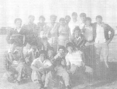 25022018 Alfredo López, Elías Márquez y Mateo Mata, alumnos de Tercer Año Secc. I de la Escuela Secundaria No. 2, en 1977.