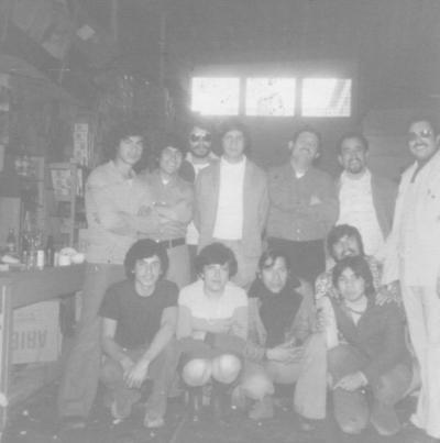 25022018 Lupita Flores, Gonzalo Mendoza, Roberto de Anda, Pepe Cortinas, Jesús Sánchez, Gerardo Hernández, Manuel Cabello, Raúl Viesca, Mundo y Juan, en 1975.