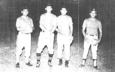 25022018 Equipo de Sóftbol Utility en el Estadio Infantil Sertoma en 1970: Gustavo Castorena, Miguel G., Juventino Ortiz y Francisco Rodríguez.