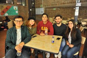26022018 COMPAñEROS.  Uriel, Regina, Fierro, Chava y Silvia.