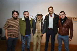 25022018 EN EXPO.  Andrés, Alfredo, Fernando, Elías y Esly.