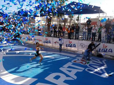 El lagunero Daniel Ortiz Pérez, obtuvo el primer puesto en la rama varonil dentro del XXX Maratón Internacional Lala, por lo que se convirtió en bicampeón de la exhaustiva prueba.