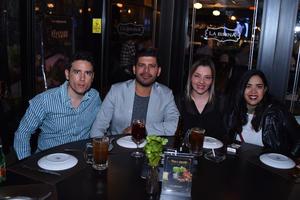 05032018 Fernando, Sergio, Caro y Thalía.