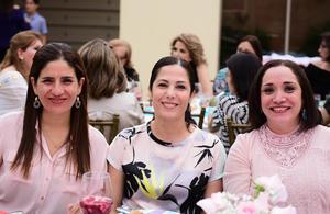 07032018 Tere de Javelly, Silvia Castro y Lorena Bello.