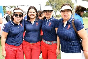 11032018 EN RECIENTE TORNEO.  Claudia Ramírez, Elisa Navarro, Rosy Castillo y Diana Mata.