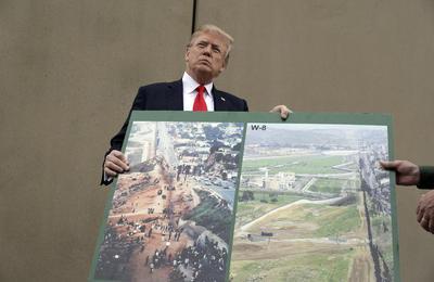 Trump dijo observar cientos de hoyos parchados en algunas de las rejas y afirmó que esas barreras no son lo suficientemente fuertes.