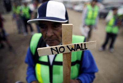 Protestante mexicano en Tijuana.