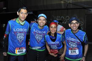 14032018 PARTICIPAN EN CARRERA.  Edwin, Luis Fernando, Ana y Carlos.