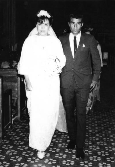 18032018 Josefina Esparza Díaz y Eduardo Vaquera Romero el día de su boda el 16 de marzo de 1968. Este año celebran sus Bodas de Oro.