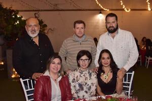 18032018 EN FESTEJO.  Claudia, Edmundo, Katia, Salvador, Valeria y Octavio.