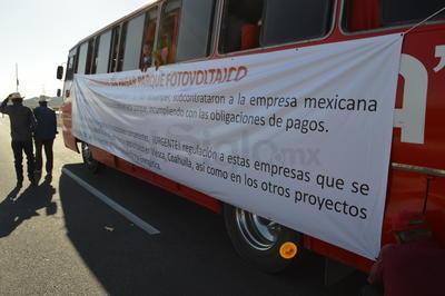 Savir Ruiz, representante de una de las empresas afectadas, dijo que retirarán la protesta hasta que se cuente con el diálogo de un ejecutivo de alto nivel del gobierno del estado.