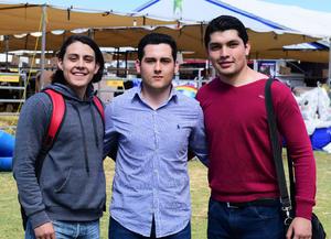 23032018 EN ENGALEC.  Michel, Luis y Miguel.