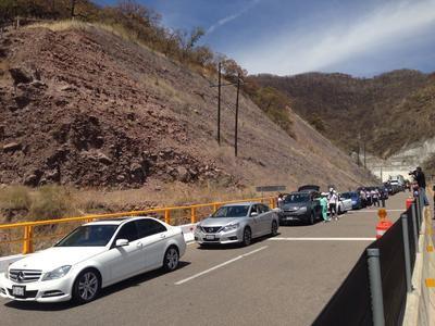 La velocidad restringida un dicho tramo se ha marcado en 15 Km/hr.