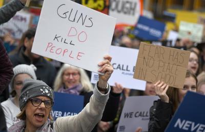 En Londres se solidarizaron contra la violencia por las armas.