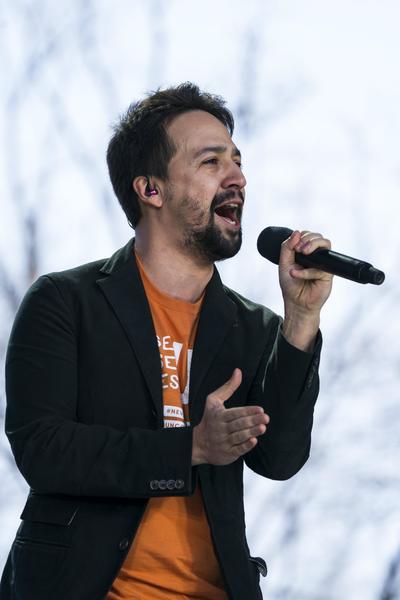 Lin Manuel Miranda fue otro de los invitados.