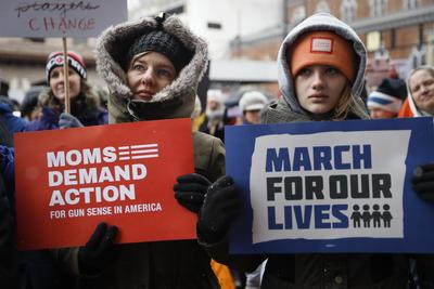"""Forman parte de la """"March for our lives""""."""