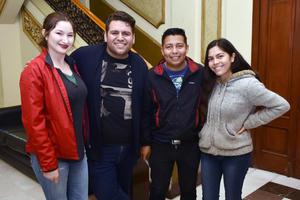 27032018 EN EL TEATRO.  Prisma, Gerardo, Lalo y Marypaz.