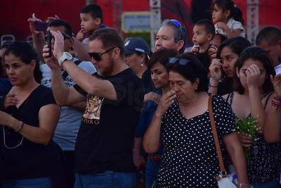 Visitantes procedentes de las distintas regiones del estado, del país y del extranjero quienes disfrutaron las actividades religiosas y culturales.