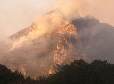 Autoridades que conforman el Comité de Incendios Forestales acudieron al lugar.
