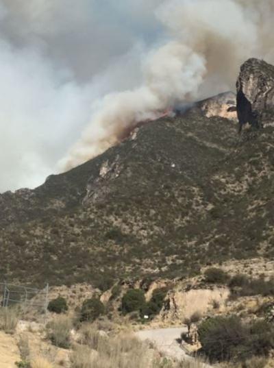 Fue alrededor de las 17:00 horas del domingo que se reportó un incendio en la Sierra de Zapalinamé, en su acceso por el Cañón de San Lorenzo.