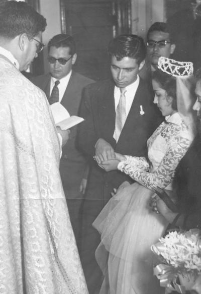 01042018 Óscar Rimada y Armandina Salazar el 26 de febrero de 1954.