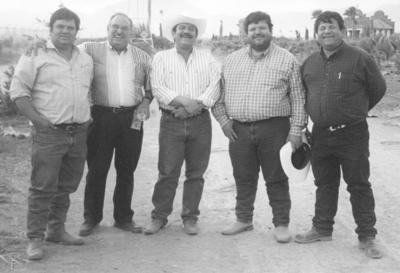 """01042018 En el Rancho """"La Piedad"""", los hermanos Beto, Carlos, Miguel y Javier Dávila García con su primo, Jesús Reyes García."""