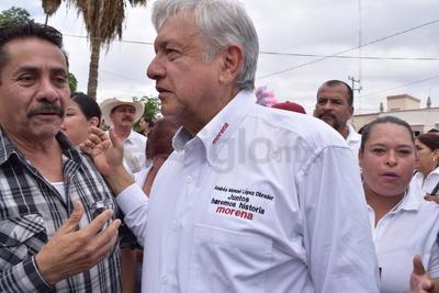 El candidato por Morena a la Presidencia de México, Andrés Manuel López Obrador, estuvo en San Pedro Coahuila.