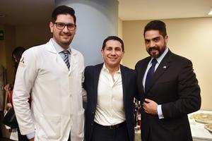 09042018 EN RECIENTE EVENTO.  Gustavo Rodríguez, Alfonso Cambero y Ernesto Reyes.