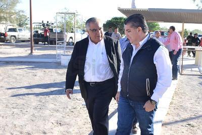 El gobernador Miguel Riquelme durante el evento habló sobre los indices delictivos en el Estado.
