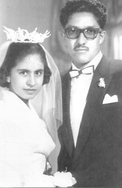15042018 Ma. Petra Rosales de Ramírez y Jesús Mario Ramírez el 22 de abril de 1958.
