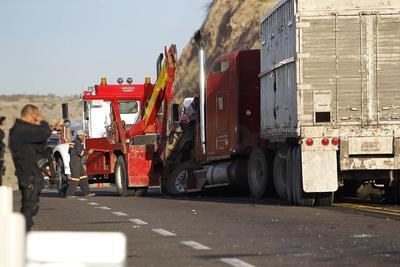Este fue el resultado fatal de un choque frontal entre el vehículo mencionado y un tráiler.
