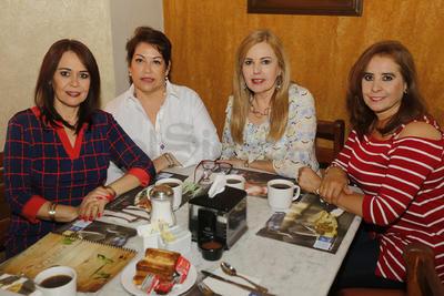 Roy Montenegro, Irma Reyes,  Lula Jiménez y Silvia Domínguez.