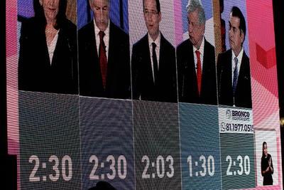 López Obrador fue el más atacado por los candidatos.