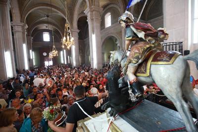 A decir de la encargada de la Galería Episcopal, Alicia Juárez, se trata de una escultura tallada en madera y esculpida por Felipe de Ureña, un maestro ebanista de la época; data de 1744.