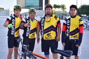 24042018 MEGA RODADA.  Hace unos días se realizó la actividad ciclista en la que estuvieron Jorge, Jorge, Mario y Brian.
