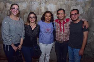26042018 Diana, Grise, Martha, Alfonso y Enrique.