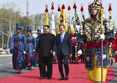 Dio inicio el histórico encuentro en el líder de Norcorea, Kim Jong-un y el presidente del Sur, Moon Jae-in.