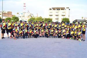 27042018 SOBRE RUEDAS.  Participan en Mega Rodada, en el marco del Día Mundial de la Bicicleta.