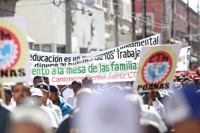 Esta es la única fecha en la que los trabajadores pueden estar frente a las autoridades y exigir que atiendan sus demandas.