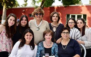 01052018 Angie, Andrea, Marifer, Nity, Ivonne, Letty, Daniela, Malu y Rosario.