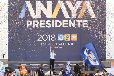 """Ricardo Anaya Cortés, candidato de la coalición """"Por México al frente"""", aseguró que el estado de Durango recibirá más apoyos una vez que llegue a la Presidencia."""