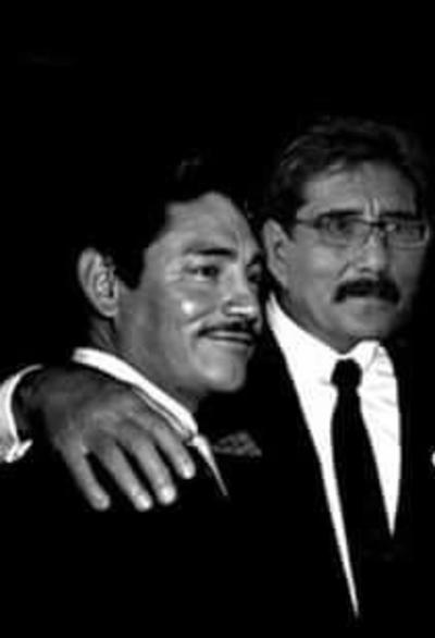 06052018 Guillermo Espinoza Sáenz Pardo con Javier Solís, hace algunas décadas.
