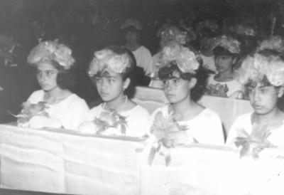 06052018 Amparo Mora (f) y Cecilia Mora en 1965.