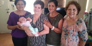 06052018 EN FAMILIA.  Luce, Merce y Cecilia Ávila, hermanas, visitaron a Asunción con motivo del nacimiento de su nieta, Maite.