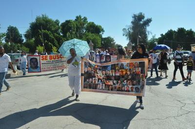 El grupo recordó a Eva, una madre que falleció sin saber qué fue lo que pasó con su hijo desaparecido.
