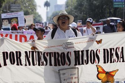 Mamás de Chihuahua salieron ayer miércoles, apoyadas por el Centro de Derechos Humanos para las Mujeres (Cedehm) para sumarse al contingente en la Ciudad de México.