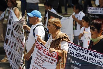 Integrantes de Amnistía Internacional y organizaciones civiles las acompañaron.