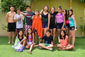 12052018 POOL PARTY SORPRESA.  Daniela Valdez cumplió 12 años de vida, por lo que sus papás le organizaron una fiesta sorpresa a la que asistieron todas sus amistades.