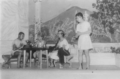 """13052018 """"Zeus no usaba raticida"""", 2 de agosto de 1961: Miguel Azareaya, Alberto Romero, Gustavo Torres, Manuel Contreras, Aurelio de Alba y Adela Rivera. Estreno, 31 de julio de 1961."""