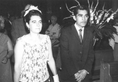 13052018 Amparo Garza de Mora (f) y Miguel Rosales (f) en 1970.